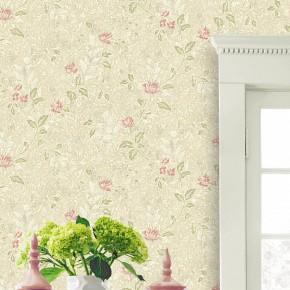 无纺布欧式田园壁纸客厅背景墙卧室温馨小花非自粘