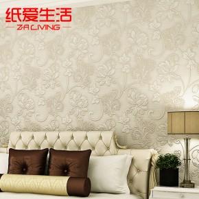 欧式墙纸浮雕壁纸3d欧式卧室客厅电视背景墙墙纸