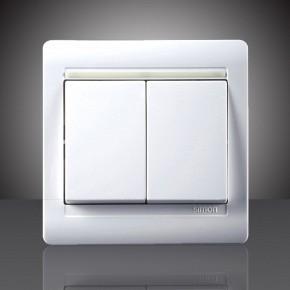 55系列床头双开双控开关面板n51022b
